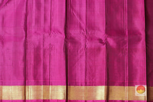 magenta silk blouse of kanjivaram silk saree