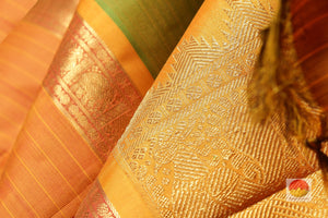 zari detail of traditional design kanjivaram pure silk saree