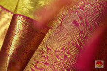 zari detail of kanjivaram bridal saree