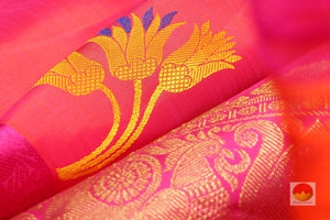 zari detail of  traditional design kanjivaram pure silk sari