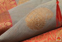 Load image into Gallery viewer, body, border and pallu of silk cotton saree