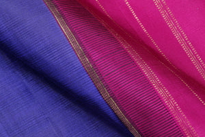 fabric texture of ms blue and pink kanjivaram saree