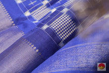 Load image into Gallery viewer, fabric detail of yarn in pochampally silk saree