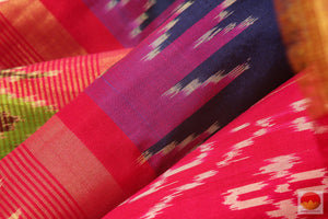 fabric texture of pochampally silk saree
