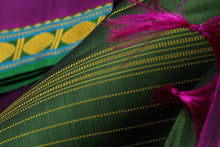fabric view of handwoven kanjivaram pure silk saree