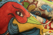 Handpainted Kalamkari Silk Saree - Vegetable Dyes - PKBD 209 Archives