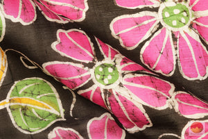 fabric detail of yarn in batik silk saree