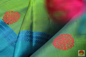 Handwoven Pure Silk Kanjivaram Saree - Silk Thread Work - No Zari - PV 4683 Archives