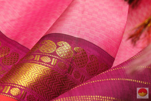 zari detail of kanjivaram silk saree