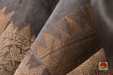 Load image into Gallery viewer, fabric texture of banarasi silk saree