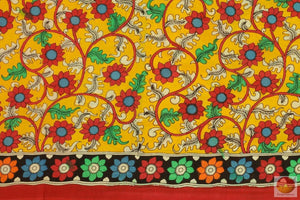 Handpainted Kalamkari Silk Saree - Organic Dyes - PKM 279 Archives