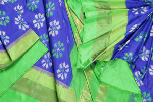 Pochampally silk saree drape