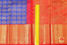 border detail of royal blue kanjivaram pure silk saree