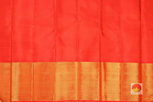 orange silk blouse of traditional kanjivaram saree
