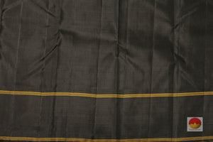 black silk blouse of kanjivaram pure silk saree