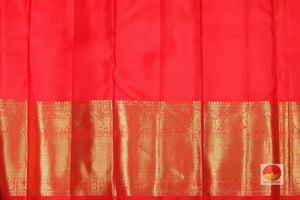 kumkuma red silk blouse of kanjivaram pure silk saree