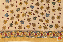 blouse of kalamkari silk cotton saree