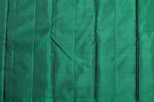 green silk blouse of kanjivaram silk saree