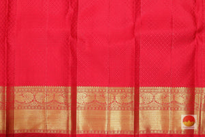 red silk blouse of kanjivaram pure silk saree