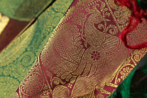 Traditional Design Handwoven Pure Silk Kanjivaram Saree - Bridal Saree - PBR 001 Archives