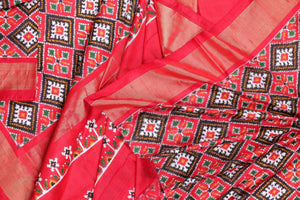 Pochampally double ikkat silk saree