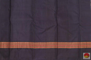 Kanchipuram Silk Saree - Handwoven Pure Silk - Pure Zari - Temple Korvai Border - PV G 4059