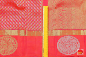 Traditional Design Handwoven Pure Silk Kanjivaram Saree - Pure Zari - PV G 1655 Archives