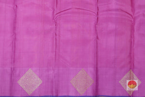 lavender silk blouse of kanjivaram pure silk saree