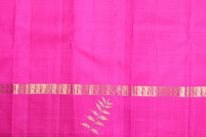 pink silk blouse of kanjivaram silk saree