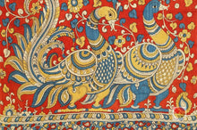 Handpainted Kalamkari Silk Saree - Organic Dyes - PKBD 216 Archives