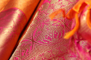 Traditional Design Handwoven Pure Silk Kanjivaram Saree - Bridal Saree - PA 3699 Archives