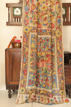 body, border and pallu of kalamkari saree