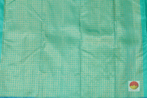 teal Blouse of kanjivaram silk saree