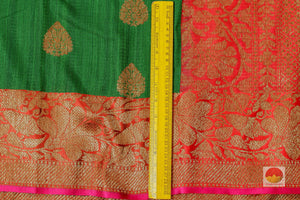 border detail of banarasi matka silk saree