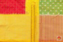 border detail of pochampally ikkat silk saree