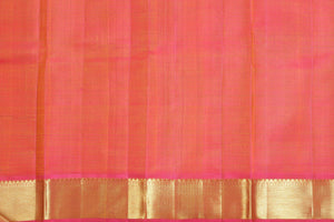 Peach Pink silk blouse of kanjivaram silk saree