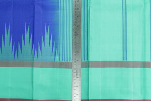 Temple Border Handwoven Pure Silk Kanjivaram Saree - PVJU 0618 1457 Archives