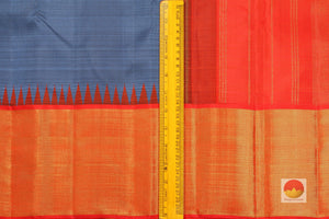 Temple Border Handwoven Pure Silk Kanjivaram Saree - Pure Zari - PVJL 0718 1550 Archives