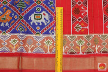 Load image into Gallery viewer, fabric detail of pochampally silk saree