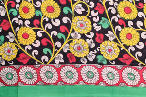 Border design detail of kalamkari silk saree
