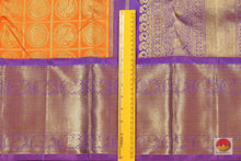 Load image into Gallery viewer, fabric detail of yarn in kanjivaram silk saree