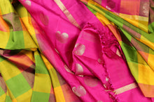 pallu and body of kanjivaram pure silk saree