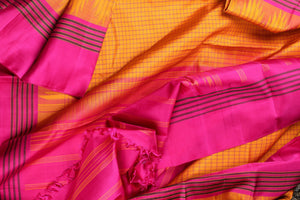 drape view of pure silk saree