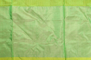 Border design detail of green pochampally silk saree