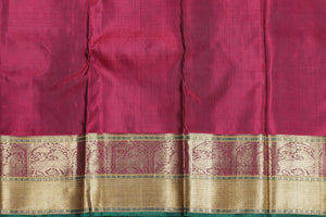 silk blouse of traditional kanjivaram pure silk saree