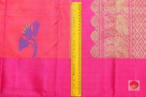 Lite Weight Handwoven Pure Silk Kanjivaram Saree - PV G 1656