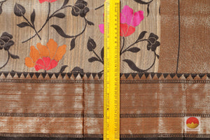 border detail of banarasi tussar pure silk saree