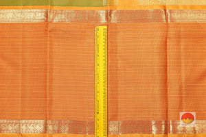 Traditional Design Handwoven Kanjivaram Pure Silk Saree - Pure Zari - PVSM G56 Archives