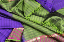 drape view of kanjivaram pure silk saree