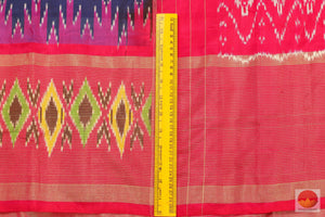 border detail of pochampally silk saree